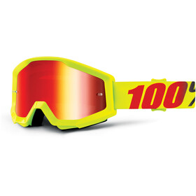 100% Strata goggles geel